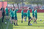 10.01.2020, Sportzentrum RCD Mallorca, Son Bibiloni, ESP, TL Werder Bremen -  Training Tag 07<br /> <br /> im Bild / picture shows <br /> <br /> Warten auf das Training Ömer / Oemer Toprak (Werder Bremen #21)<br /> Johannes Eggestein (Werder Bremen #24)<br /> Yuya Osako (Werder Bremen #08)<br /> Sebastian Langkamp (Werder Bremen #15)<br /> <br /> <br /> Foto © nordphoto / Kokenge