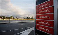BOGOTA, COLOMBIA - MAY 11: Signs of colombian airline Avianca are seen in one of the entrances at El Dorado International Airport on May 11, 2020 in Bogota. Avianca filed for bankruptcy protection in the United States on May 10, 2020 to reorganize its debt for the impact of the coronavirus pandemic. (Photo by Leonardo Munoz/VIEWpress via Getty Images)