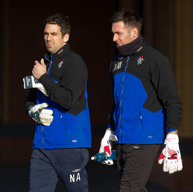 Neil Alexander and Allan McGregor at training