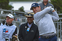 David Lingmerth (SWE) watches his tee shot on 10 during Round 3 of the Valero Texas Open, AT&amp;T Oaks Course, TPC San Antonio, San Antonio, Texas, USA. 4/21/2018.<br /> Picture: Golffile | Ken Murray<br /> <br /> <br /> All photo usage must carry mandatory copyright credit (&copy; Golffile | Ken Murray)