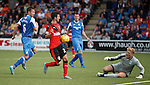 Jason Holt runs in to score goal no 3 for Rangers