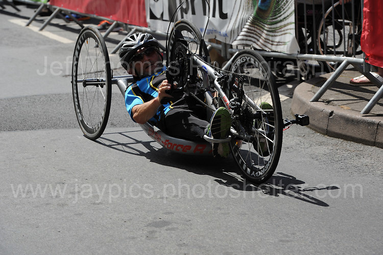 "One of the competitors during the Abergavenny Festival of Cycling ""Para Grand Prix of Wales"" race on Sunday 17th 2016<br /> <br /> <br /> Jeff Thomas Photography -  www.jaypics.photoshelter.com - <br /> e-mail swansea1001@hotmail.co.uk -<br /> Mob: 07837 386244 -"