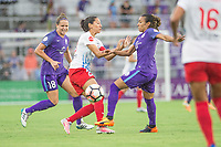 Orlando, FL - Saturday July 01, 2017: Maddy Evans, Christen Press, Marta during a regular season National Women's Soccer League (NWSL) match between the Orlando Pride and the Chicago Red Stars at Orlando City Stadium.
