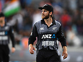 8th February 2019, Eden Park, Auckland, New Zealand;  Kane Williamson at the end of the match.<br /> New Zealand v India in the Twenty20 International cricket, 2nd T20.