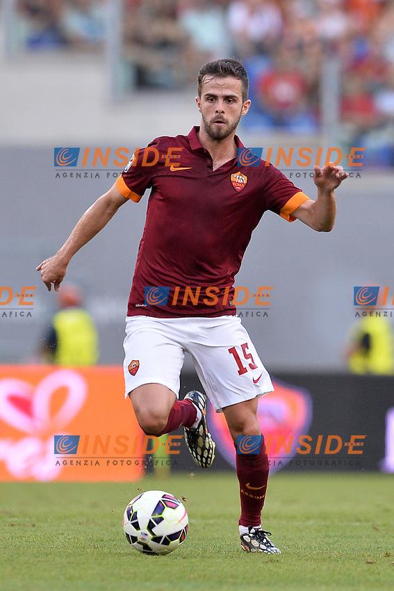 Miralem Pjanic Roma.<br /> Roma 27-09-2014 Stadio Olimpico. Football Calcio 2014/2015 Serie A. AS Roma - Hellas Verona. Foto Antonietta Baldassarre / Insidefoto