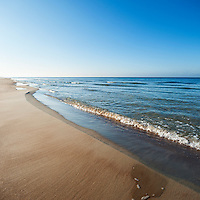Scenic waters of Baltic sea, Curonian Spit, Lithuania
