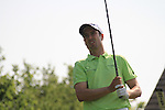 Ross Fisher teeing off on the 14th on day two of the Celtic Manor wales Open 2010.Picture Fran Caffrey/Newsfile.ie
