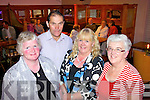 Enjoying last Friday in The Golf House Hotel for the annual Asdee race night was Anna and Tony Horgan(Lisselton), Margaret Cunningham(Meath) and Bridie Bambury(Lisselton).