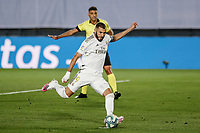 10th July 2020; Estadio Alfredo Di Stefano, Madrid, Spain; La Liga Football, Real Madrid versus Deportivo Alaves; Karim Benzema (Real Madrid)  takes and scores from the penalty spot in the 11th minute