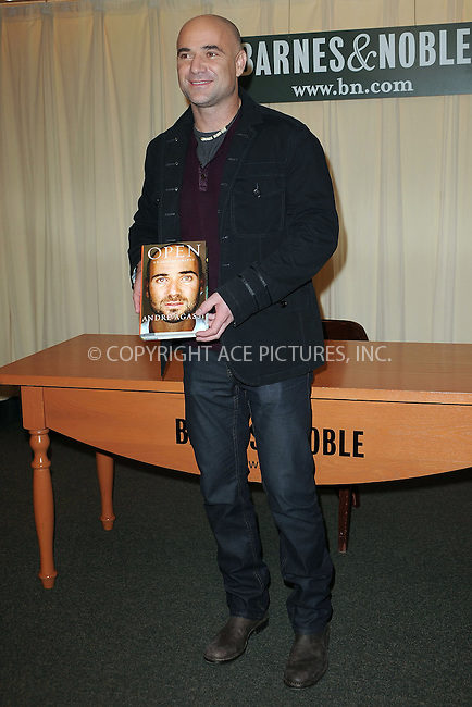 """WWW.ACEPIXS.COM . . . . . ....November 12 2009, New York City....Tennis star Andre Agassi signed copies of his autobiography, """"Open"""" at the Fifth Avenue Barnes & Noble on November 12 2009 in New York City....Please byline: KRISTIN CALLAHAN - ACEPIXS.COM.. . . . . . ..Ace Pictures, Inc:  ..(212) 243-8787 or (646) 679 0430..e-mail: picturedesk@acepixs.com..web: http://www.acepixs.com"""