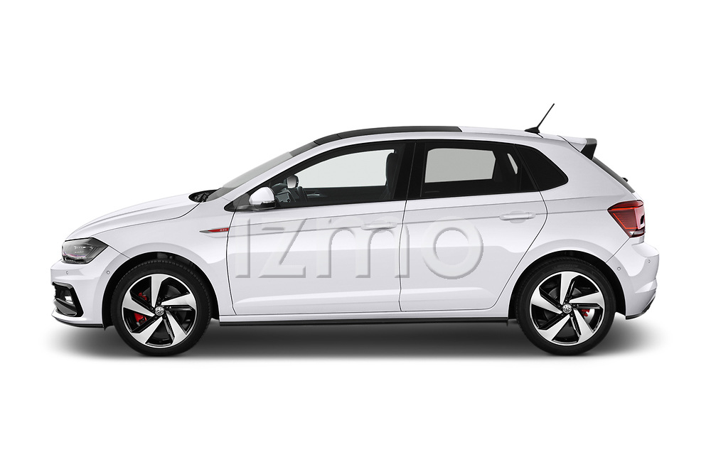 Car driver side profile view of a 2018 Volkswagen Polo GTI 5 Door Hatchback