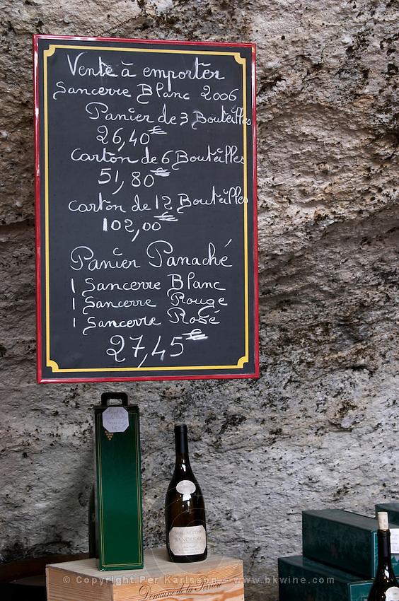 Wine shop. Domaine de la Perriere, Sancerre, Loire, France