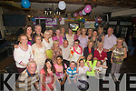 70TH: Ollie Hill who from London celebrated her 70th Birthday with her family and friends from Tralee in the Greyhound Bar, onm Saturday night (Ollie is seated ncentre).... ....