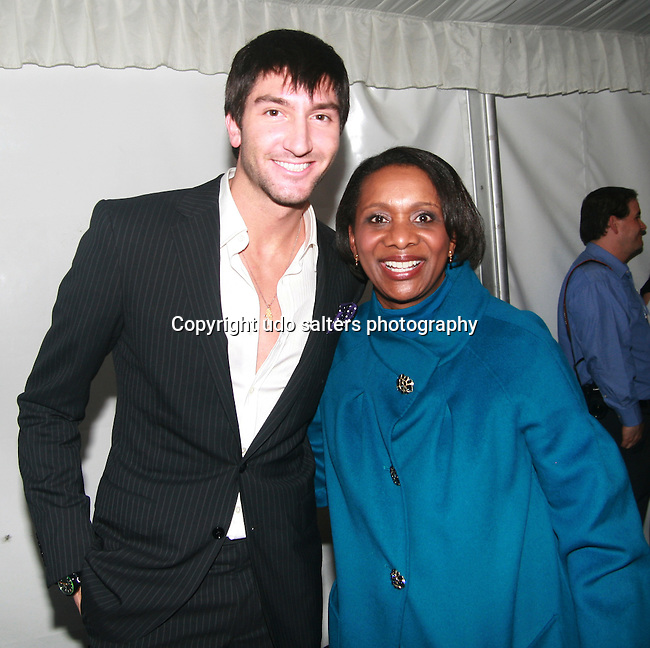 Evan Lysacek and 2011 Skating With The Stars Co-Chair Candace S. Matthews The 2011 Figure Skating in Harlem - Skating with the Stars Honoring Tina and Terry Lundgren, Sarah Hughes and Lola C. West at the Wollman Rink, NY 4/4/11
