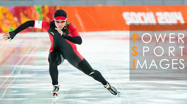 Bai Qiuming of China compete during the Short Track Speed Skating as part of the 2014 Sochi Olympic Winter Games at Iceberg Skating Palace on February 10, 2014 in Sochi, Russia. Photo by Victor Fraile / Power Sport Images