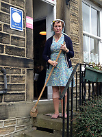 BNPS.co.uk (01202 558833)<br /> Pic: LorettaSkelton/HostUnusual<br /> <br /> Broom and wrinkled stockings are optional...<br /> <br /> Fans of TV sitcom Last of the Summer Wine are booking out the iconic cottage where unlikely sex symbol Nora Batty lived after it has been turned into a holiday let.<br /> <br /> The exterior of the terraced house in Holmfirth, West Yorks, featured in dozens of episodes of the much-loved BBC show.<br /> <br /> Yorkshire battleaxe Nora Batty - played by the late actress Kathy Staff - was more often than not filmed sweeping the steps of the two bedroom cottage and chasing off the unwanted attentions of Bill Owen's character Compo.<br /> <br /> In real life the property - 28 Huddersfield Road - is owned by Richard and Loretta Skelton who run it as a successful self-catering holiday home.