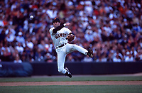 SAN FRANCISCO, CA:  Rich Aurilia of the San Francisco Giants makes a play at shortstop during a game against the Los Angeles Dodgers at Pacific Bell Park in San Francisco, California in 2001. (Photo by Brad Mangin)