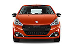 Car photography straight front view of a 2015 Peugeot 208 Allure 5 Door Hatchback Front View