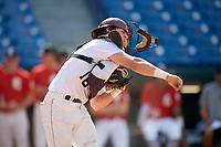 Jason Hawkins (18) of Plano Senior High School in Allen, TX during the Perfect Game National Showcase at Hoover Metropolitan Stadium on June 19, 2020 in Hoover, Alabama. (Mike Janes/Four Seam Images)