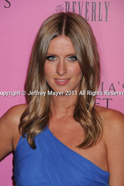 """LOS ANGELES, CA - MAY 12: Nicky Hilton arrives to the Victoria's Secret 6th Annual """"What Is Sexy? List: Bombshell Summer Edition"""" Pink Carpet Event at The Beverly on May 12, 2011 in Los Angeles, California."""