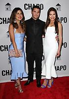 19 April 2017 - Los Angeles, California - Valentina Acosta, Marco De La O and Juliette Pardau. Univision's 'El Chapo' Original Series Premiere Event held at The Landmark Theatre. Photo Credit: AdMedia