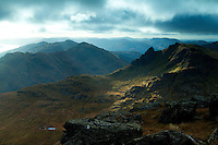 The Cobbler and Ben Donich from Beinn Narnain, the Arrochar Alps, Loch Lomond and the Trossachs National Park, Argyll & Bute