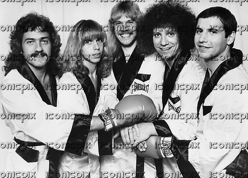 STYX - L-R: Dennis De Young, Tommy Shaw, James Young, John Panozzo, Chuck Panozzo - .  Photo credit: MM-Media Archive/IconicPix