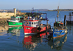 Fishing boats in the harbour at Cobh, County Cork, Ireland, Irish Republic