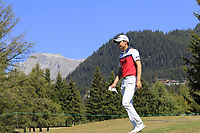 Jeunghun Wang (KOR) walks off the 14th tee during Sunday's Final Round 4 of the 2018 Omega European Masters, held at the Golf Club Crans-Sur-Sierre, Crans Montana, Switzerland. 9th September 2018.<br /> Picture: Eoin Clarke | Golffile<br /> <br /> <br /> All photos usage must carry mandatory copyright credit (© Golffile | Eoin Clarke)