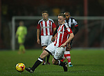 Jordan Hallam of Sheffield Utd  during the Checkatrade Trophy match at Blundell Park Stadium, Grimsby. Picture date: November 9th, 2016. Pic Simon Bellis/Sportimage