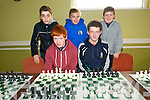Team from Milltownat the  Kerry Community Games Chess Tournament, held in Na Gael GAA Club on Sunday. Pictured front l-r Tom Needy, Paudie Horgan, back l-r Jason Denihan, Tom Stevens and Fionn Nelligan