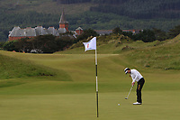 Gurleen Kaur (USA) on the 1st green during Round 2 of the Women's Amateur Championship at Royal County Down Golf Club in Newcastle Co. Down on Wednesday 12th June 2019.<br /> Picture:  Thos Caffrey / www.golffile.ie