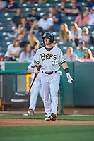 Taylor Ward (3) of the Salt Lake Bees during the game against the Round Rock Express at Smith's Ballpark on June 10, 2019 in Salt Lake City, Utah. The Bees defeated the Express 9-7. (Stephen Smith/Four Seam Images)