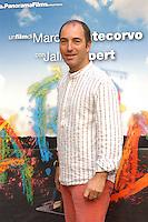 "MARCO PONTECORVO.Photocall for the film ""Parada"" in .Rome, Italy, September 17th 2008..half length white striped shirt.CAP/CAV.©Luca Cavallari/Capital Pictures"