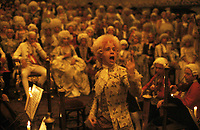Amadeus (1984) <br /> Tom Hulce &amp; Jeffrey Jones<br /> *Filmstill - Editorial Use Only*<br /> CAP/KFS<br /> Image supplied by Capital Pictures