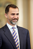 Prince Felipe of Spain attend audiences at Zarzuela Palace. March 13, 2013. (ALTERPHOTOS/Caro Marin) NortePhoto