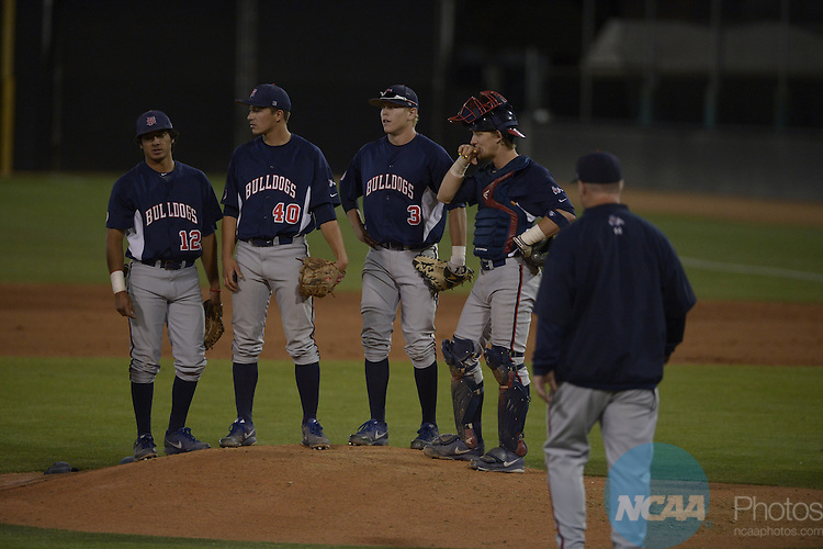 21 May 2014: Fresno State against Nevada during the Mountain West Baseball Championship Tournament at Earl E. Wilson Baseball Stadium in Las Vegas, NV. Peter Lockley/NCAA Photos