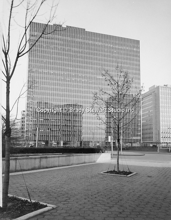 Pittsburgh PA:  View of the new addition to  Gateway Center; Gateway Building Four - 1960.  Gateway 4 completed the four building downtown complex that was the prime business address in Pittsburgh for over 25 years.