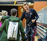 Almere - Zaalhockey Amsterdam-Den Bosch (v)  .  assistent coach Robert Tigges (A'dam)  met coach Rick Mathijssen (A'dam) TopsportCentrum Almere.    COPYRIGHT KOEN SUYK