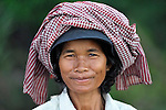 A woman in the village of Dong in northern Cambodia.