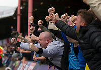 ecstatic away fans during Grimsby Town vs Coventry City, Sky Bet EFL League 2 Football at Blundell Park on 12th August 2017
