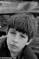 Hanging around outside, Summerhill school, Leiston, Suffolk, UK. 1968.