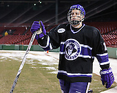 Brett McKinnon (HC - 18) - The Bentley University Falcons defeated the College of the Holy Cross Crusaders 3-2 on Saturday, December 28, 2013, at Fenway Park in Boston, Massachusetts.