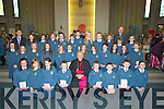 A day to remember for Mr Robert Kennedy 6th Class Scoil Eoin Balloonagh, Friday as they were confirmed by Bill Murphy Bishop of Kerry on Friday in Our Lady and Brendan's Church, Tralee................... . ............................... ..........