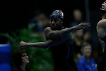 INDIANAPOLIS, IN - MARCH 18: Simone Manuel of Stanford University prepares for the 100-yard freestyle during the Division I Women's Swimming & Diving Championships held at the Indiana University Natatorium on March 18, 2017 in Indianapolis, Indiana. (Photo by A.J. Mast/NCAA Photos via Getty Images)