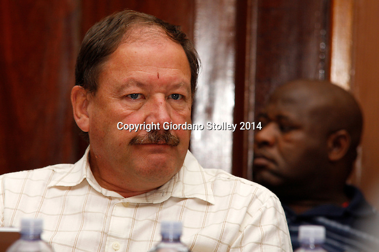 DURBAN - 14 February 2014 - Structural engineer Andre Ballack, whose plans of the ill-fated Tongaat Mall were described as having material defects, listens to testimony given at the commission of inquiry set up by the Department of Labour to investigate the events that led to a Tongaat Mall collapsing, killing two people and injuring 29 on November 19, 2013. Picture: Allied Picture Press/APP