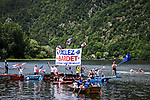 Local boy Romain Bardet (FRA) fans show their support during Stage 9 of the 2019 Tour de France running 170.5km from Saint-Etienne to Brioude, France. 14th July 2019.<br /> Picture: ASO/Pauline Ballet | Cyclefile<br /> All photos usage must carry mandatory copyright credit (© Cyclefile | ASO/Pauline Ballet)