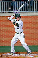Corey Shaylor #12 of the Charlotte 49ers at bat against the Tennessee Tech Golden Eagles at Robert and Mariam Hayes Stadium on March 8, 2011 in Charlotte, North Carolina.  Photo by Brian Westerholt / Four Seam Images