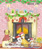 Kate, CHRISTMAS ANIMALS, WEIHNACHTEN TIERE, NAVIDAD ANIMALES, paintings+++++Fireside 2,GBKM290,#xa#