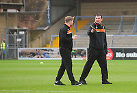 Blackpool manager Gary Bowyer chats with Andy Todd<br /> <br /> Photographer Kevin Barnes/CameraSport<br /> <br /> The EFL Sky Bet League Two - Wycombe Wanderers v Blackpool - Saturday 11th March 2017 - Adams Park - Wycombe<br /> <br /> World Copyright &copy; 2017 CameraSport. All rights reserved. 43 Linden Ave. Countesthorpe. Leicester. England. LE8 5PG - Tel: +44 (0) 116 277 4147 - admin@camerasport.com - www.camerasport.com